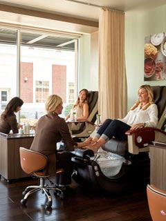 Two women getting pedicures at MeltSpa