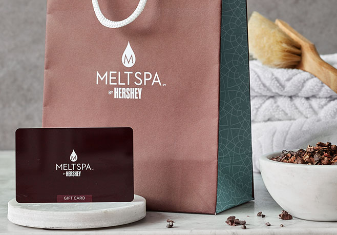 Melt Spa By Hershey Gift Card and Product Bag